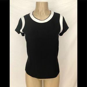 Rag & Bone black short sleeve Magda top XXS